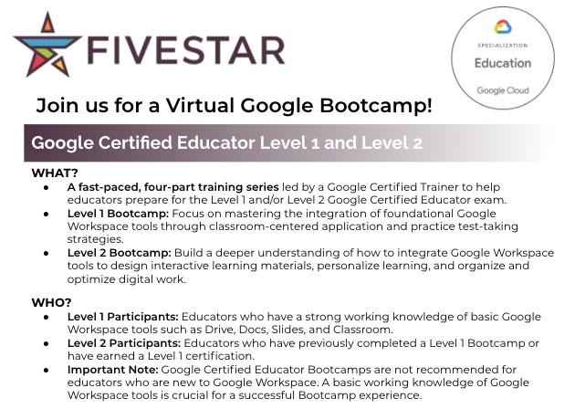 Google Certified Educator Bootcamp